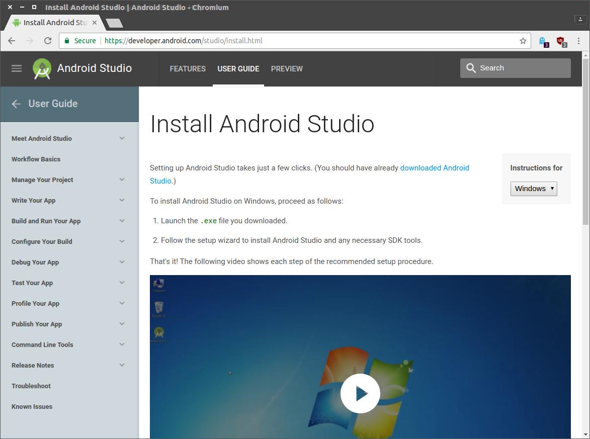 Installing the Android SDK   MONKEY WORKS Documentation ...